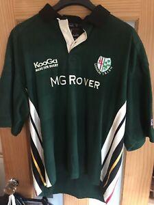 London Irish Kooga Rugby Union Home Team Shirt Jersey 2001 MG Rover 2XL