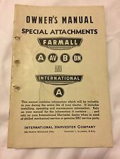 International Harvester Special Attachments Owner's Manual