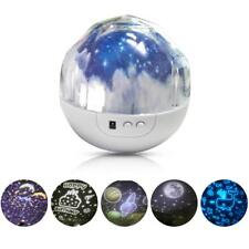 Star Night Light Universe LED Rotating Projector Desk Starry Lamp for Kids NEW