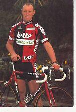CYCLISME carte cycliste PAUL VAN HYFTE équipe LOTTO MOBISTAR 1997