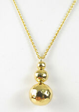 "NWT LAUREN Ralph Lauren Bali 16"" Gold-tone Metal Bead Pendant Necklace $48"