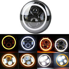 Auto 7'' Front Scheinwerfer LED& Angel Eyes Universal Jeep Land Rover Mercedes G