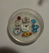 Set of Nursing Charms and Origami Owl crystals for floating locket