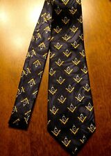 Fraternal Organization MASONIC Mason New Navy Blue 100% Polyester Tie! #2122