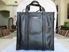 BALENCIAGA BAZAR SHOPPER 443096 SMALL BLACK LEATHER TOTE BAG 062827-18