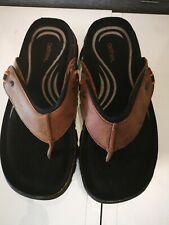 Aetrex Men's Thong Sandal Brn Sz 8us/7us