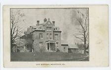 City Hospital MEADVILLE PA Vintage Crawford County Pennsylvania Postcard