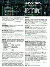 STAR TREK CCG FIRST CONTACT RULES SUPPLEMENT