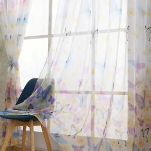 Sheer Voile Butterfly Curtain