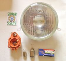 HEAD LIGHT GLASS LENS, BULBS AND BULB HOLDER INC'. GOOD FOR PX VESPA SCOOTERS