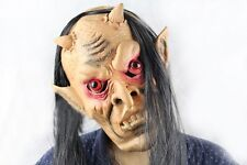 Adult Halloween Face Mask Head Latex Red Eye Monster Mask