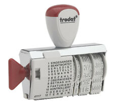 TRODAT Wortbandstempel 1117 Datumstempel Stempel Datum Erledigt Bezahlt Gebucht