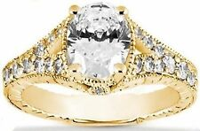 Ring 14k Yellow Gold 1.98 ctw 1.53 ct Center Oval shape Diamond Solitaire