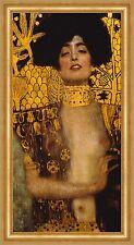 Judith I Detailausschnitt Holofernes Femme Fatale Bütten Gustav Klimt A3 056