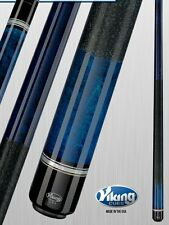 Viking 2pc Pool Cue Billiards custom new a264 Blue Finish cues free Glove