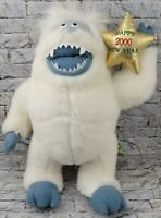 STUFFINS Abominable Snowman Stuffed Animal HAPPY 2000 NEW YEAR Vintage PLUSH TOY