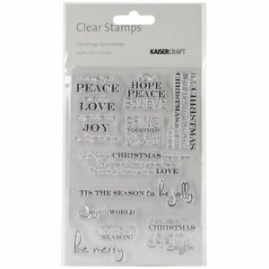Kaisercraft Christmas Sentiments Acrylic Rubber Stamp 6.25 x 4-Inch words
