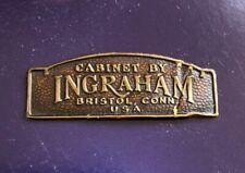 Original Ingraham Label, Tag For Emerson, Stewart Warner And Other Radio Sets