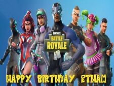 Fortnite Personalized Edible CAKE Image Icing Topper Decoration FREE SHIPPING