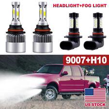 For Ford F-150 1999-2003 Combo 9007 LED Headlight + 9145 H10 Fog Light Bulbs Kit