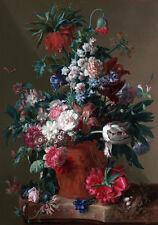 18C Dutch Master Painting Floral Still Life Flowers Fine Art Canvas Print Large