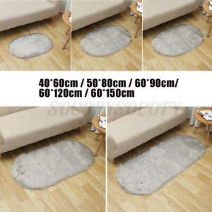 Sheepskin Rug Faux Soft Fluffy Carpet Door Area Rug  Room Floor Bedroom M