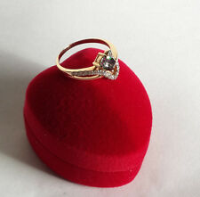 Modern solitaire enagagement ring+ Free gift
