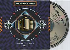 MARCUS LEWIS - The club CD SINGLE 4TR UK CARDSLEEVE 1988 House Disco RARE!