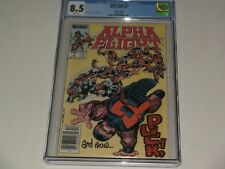 """Alpha Flight #5 Cgc 8.5 Newsstand """"Canadian"""". Puck cover!Movie soon!Save 💲 Here"""