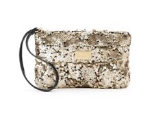 Juicy Couture JC 700 Ruched Sequined  Wristlet Gold NWT/SEALED