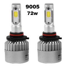 2 x 9005 Cree led 72W 8000LM S2 Headlight Car Hi/Lo Beam Auto Bulbs 6500K White