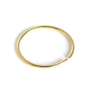 9ct Yellow Gold 8mm Nose Hoop Ring 375 Piercing Body Jewellery