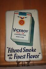 New Listingcollectible-advert ising-sign-tobacciana-Vice roy cigarettes