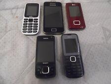 Lot de 5 téléphones HS