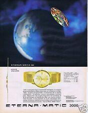 Publicité Advertising 026 1964 Eterna-matic 3000 montre