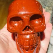 "3"" Natural Red stone Carved Crystal Skull Realistic Crystal Healing  #Sk110"