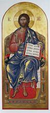 Jesus Christ - Hand Painted Eastern Orthodox Byzantine icon on wood 22karat gold