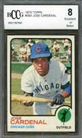 Jose Cardenal Card 1973 Topps #393 Chicago Cubs BGS BCCG 8