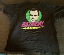 The Big Bang Theory Sheldon Bazinga Black T-Shirt Men's XL