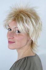 Perruque blonde méché Coupe de cheveux courte Style des Années 80 années