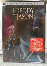 Freddy vs. Jason (Dvd, 2004, Platinum Series) Rare 2 Disc Set Brand New