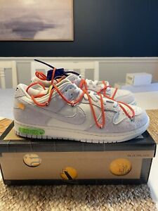 nike dunk low x off-white LOT 13 / 50. Size 12