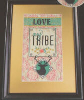 Zweigart Artiste Love My Tribe Deer 14 Count Aida 7x14 Counted Cross Stitch Kit
