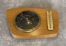 Wand Wetterstation, Hygrometer, Thermometer, Barometer Holz Art Deco / Vintage