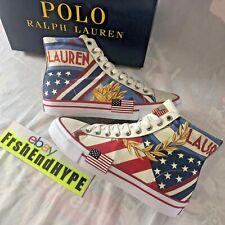 Polo Ralph Lauren Men's Solomon II - Chariots of Fire Size 7 USA Flag Shoes NIB