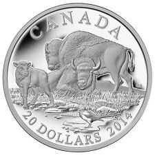 2014 Canada $20 Silver Coin The Bison: A Family at Rest