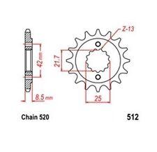 KR Ritzel 17Z Teilung 520 KAWASAKI ER 500 Twister 97-06 New... front sprocket