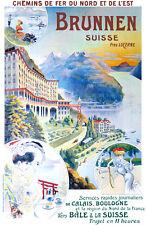 Affiche chemin de fer Nord & Est - Brunnen (Suisse)