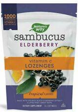 Nature's Way Sambucus Elderberry Lozenges, 1000 mg Vitamin C  Wild Cherry 24 Ct