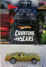 "Hot Wheels A MEDIDA 77 Pontiac Firebird ""contar Cars"" Real Riders Limitado 1/25"